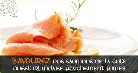 Savourez nos Saumons de la côte Ouest Irlandaise fraîchement fumés