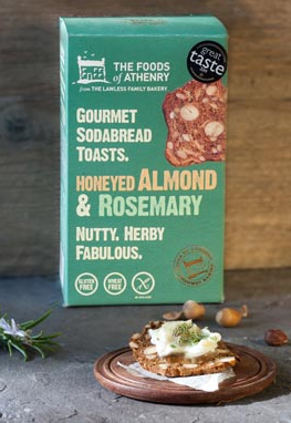 Honeyed Almond & Rosemary Soda Bread Toasts